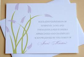 sympathy card wording thank you notes condolences bereavement thank you notes lovely