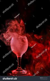 halloween abstract background abstract art hookah red smoke cocktail stock photo 323770136