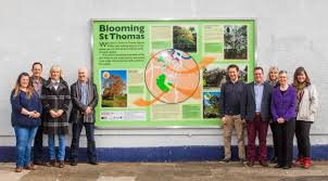 Murial by Blooming St Thomas Mural Launched At Exeter St Thomas Station