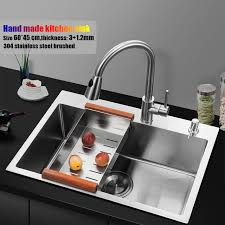 kitchen faucet size 60 45cm topmount stainless steel kitchen sink handmade single bowl