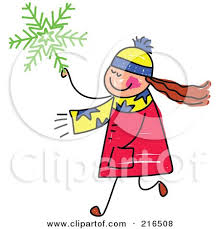 royalty free rf clipart illustration of blue snowflakes over