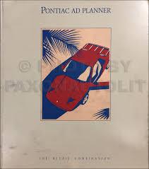 1984 1986 pontiac fiero parts book original