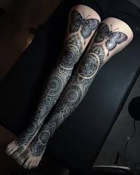 mer enn 25 bra ideer om full leg tattoos på pinterest
