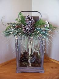 winter lantern with pine cone decoration u2026 pinteres u2026