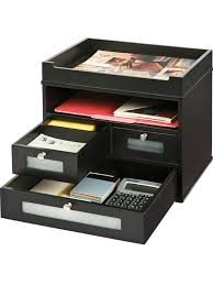 Leather Desk Organizer by Victor 5500 5 Midnight Black Tidy Tower Victor Technology Llc