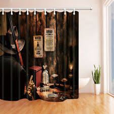 cowboy shower curtain ebay