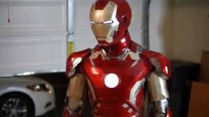 ironman halloween costume iron man mark 43 costume electronic test youtube