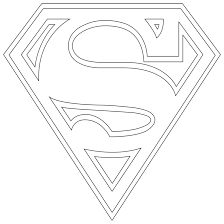 logo coloring pages for superman logo coloring pages eson me
