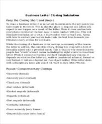 Business Letter Template Closing Salutations For Business Letters Closing The Best Letter Sample