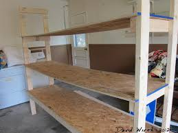 Plans For Garages by How To Build A Shelf For The Garage
