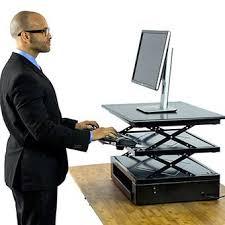sitting standing desk adjustable height finished basement