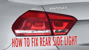 2011 vw cc led tail lights vw passat b7 rear side light fix 2011 2015 youtube
