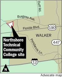 Colleges In Florida Map by Construction Of Northshore Technical Community College U0027s New