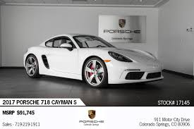 porsche cayman white 2017 porsche cayman 718 s for sale in colorado springs co 17145