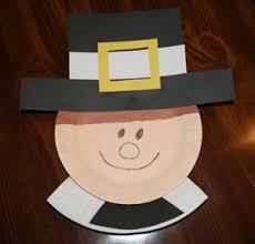 preschool crafts for thanksgiving pilgrim boy paper plate