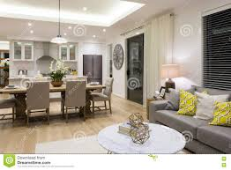Kitchen Livingroom by Luxury Living Room Beside A Dining Room And The Kitchen Stock