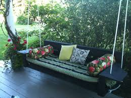 outdoor hanging chair to help you swinging and relaxing traba astonishing swing bed design for spicing up your outdoor relaxing oversized seater with porch added black
