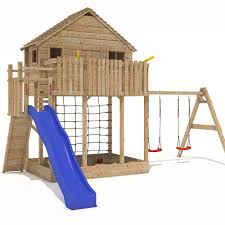 xxl play tower tree house stilt kids playhouse sandpit slide 2