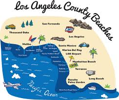 Los Angeles Area Map by Department Of Beaches U0026 Harbors