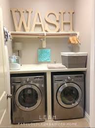 Laundry Room Storage Between Washer And Dryer Shelf Design Shelf Between Washer And Dryer Design Storage For