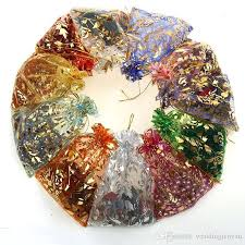 christmas gift wrap sale hot sale multi color organza jewelry bags luxury wedding voile