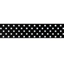 black and white polka dot ribbon 1 5 grosgrain polka dots black white discount designer fabric
