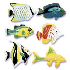 fish cake toppers cake decorating kits toppers summer tropical fish cake toppers