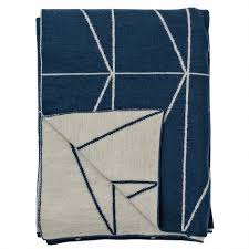 Upholstery Manchester Blue Indigo Knitted Throw Number 54 Homeware Interior Styling