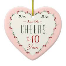 10 wedding anniversary heart shaped 10th wedding anniversary ceramic decorations heart