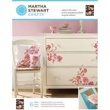 martha stewart crafts adhesive silkscreens exotic blossoms