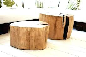 tree stump table base diy natural tree stump side table justinecelina how to make a tree