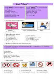 english worksheets must mustn u0027t worksheets page 13