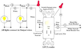 gfci outlet with light switch gfci light switch medium size of wiring a outlet and light switch