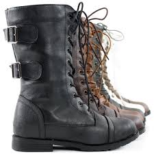 heeled biker boots combat boots military shoes flat heels motorcycle lace up biker