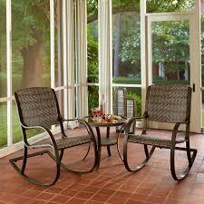 Wicker Rocker Patio Furniture - ty pennington style walnut grove rocker 3pc bistro set limited