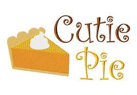 cutie pie with pumpkin pie for thanksgiving machine embroidery