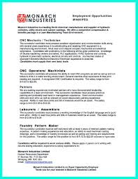 2017 resume format machinist machinist resumes cnc resume