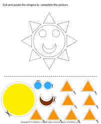 cut and paste shapes activities craft activities for kids