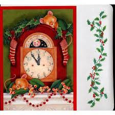 hallmark boxed cards mouse sleeping on clock 18