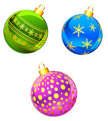christmas ornaments clipart u2013 happy holidays