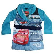 robe de chambre douce cars peignoir de bain garçon bleu bleu clair 98 cm 104 cm bleu