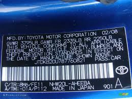 2008 prius color code 8m6 for spectra blue mica photo 78487385