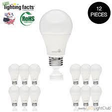 12 pack a19 led light bulbs 9w 60w equivalent 5000k day light