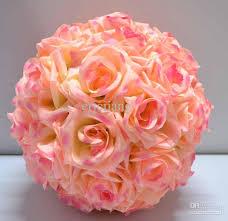 12 u0027 u0027 rose pink kissing ball pomander wedding decorations flower