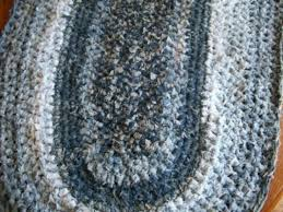 Denim Rag Rug Crocheted Blue Jeans Rug Thriftyfun
