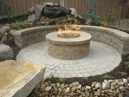 belgard cambridge cobble paver patio with fire pit and seating