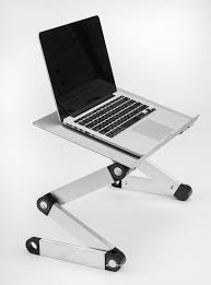 portable adjule aluminum laptop stand desk table notebook macbook ergonomic tv bed lap tray