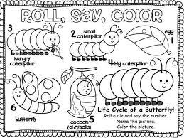 butterfly caterpillar coloring pages