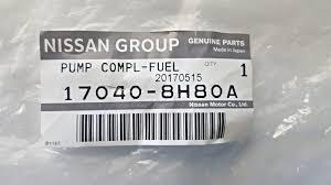 nissan almera fuel pump price genuine nissan x trail 2 2 dci diesel external fuel pump 17040 8h80a