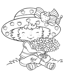 strawberry fruits coloring pages simple for kids printable free